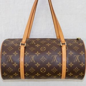 LOUIS VUITTON Monogram papillon 30 round handbag